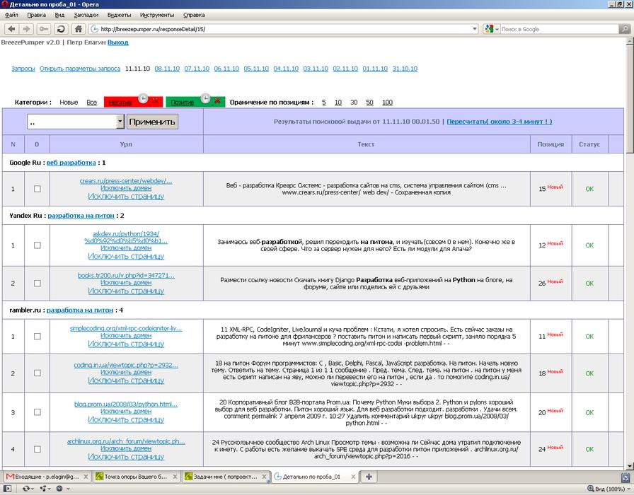 Сервис мониторинга мнений пользователей