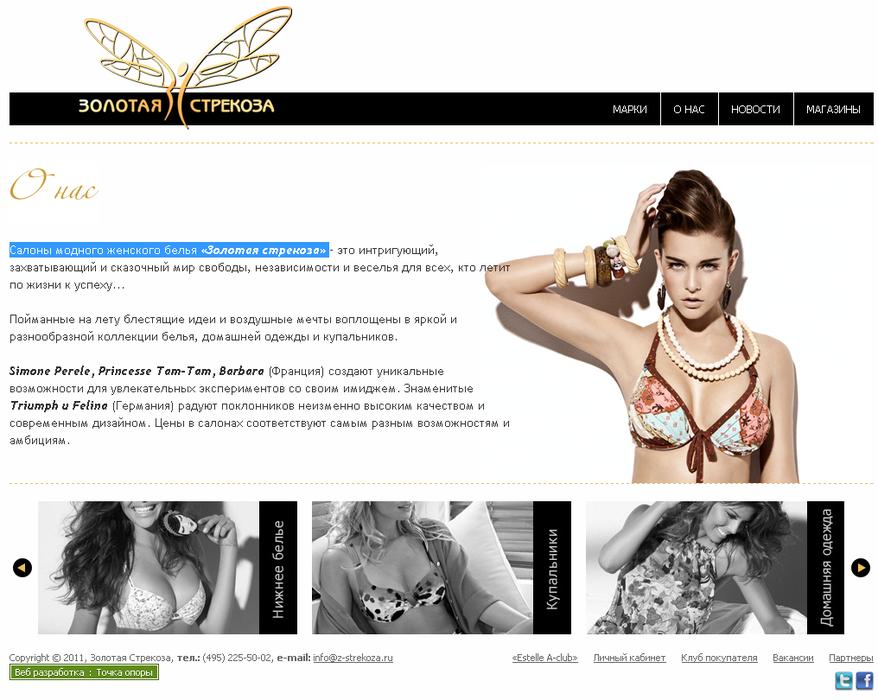 Сайт сети «Золотая стрекоза»