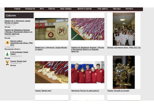 Пример 3 : Сайт Будо Академии